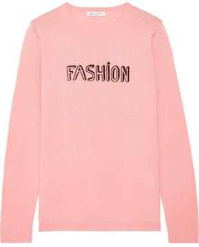 Bella Freud Fashion Intarsia Wool Sweater - Baby pink