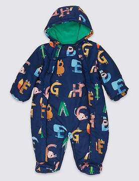Marks and Spencer Letter Print Snowsuit with StormwearTM