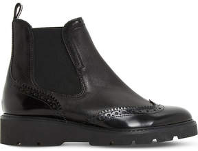 Dune Paney brogue leather Chelsea boots