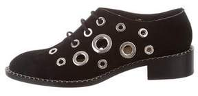 Proenza Schouler Grommet-Embellished Leather Oxfords