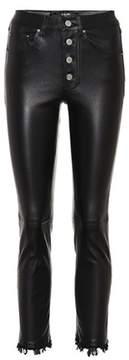 Amiri Straight-leg leather trousers