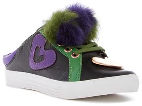 Ivy Kirzhner Sweets Genuine Rabbit Fur Pompom Slip-On Sneaker