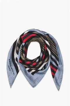 Sonia Rykiel Cotton And Silk MulticolourStriped Stole
