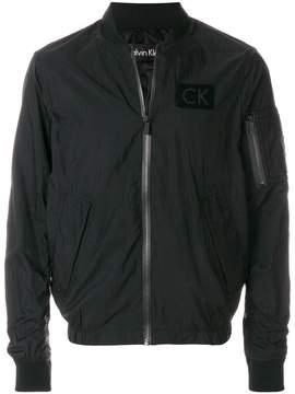 Calvin Klein Jeans logo bomber jacket