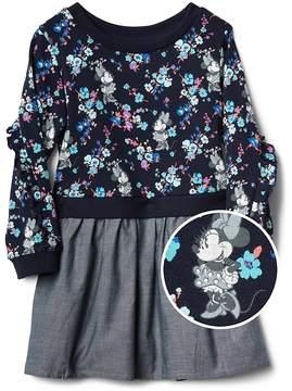 Gap babyGap | Disney Minnie Mouse Mix-Fabric Dress