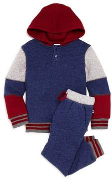 Splendid Boys' Mixed-Fabric Hoodie & Joggers Set - Little Kid