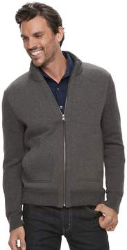 Marc Anthony Men's Slim-Fit Mixed Media Sweater Jacket