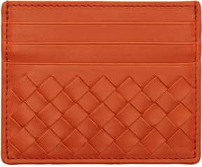 Bottega Veneta Orange Intrecciato Card Holder