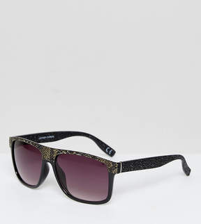 Jeepers Peepers Snake Print Flat Top Visor Sunglasses with Gradient Lens
