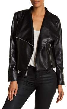BCBGeneration Missy Wing Collar Faux Leather Jacket