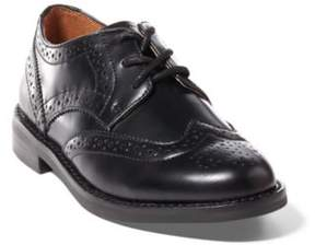 Ralph Lauren Leather Wingtip Oxford Shoe Black Leather 12.5