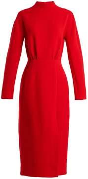 Emilia Wickstead Milan open-back wool-crepe dress