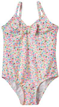 Osh Kosh Toddler Girl Foiled Heart One-Piece Swimsuit