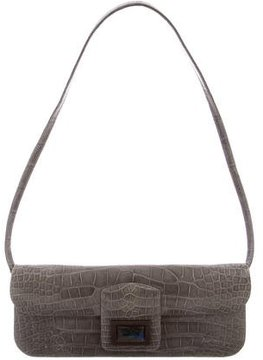 Kara Ross Alligator Dea Clutch