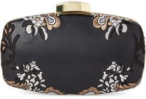 La Regale Black Embroidered Clutch