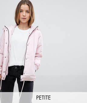 Noisy May Petite Padded Hooded Jacket