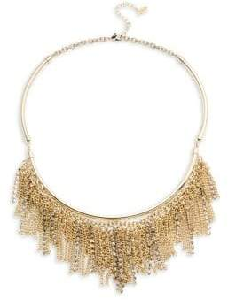 ABS by Allen Schwartz Chain and Pave Fringe Frontal Necklace