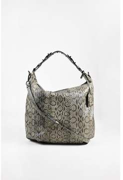 Reed Krakoff Pre-owned cadet Gray Python Snakeskin Two Way Hobo Bag.