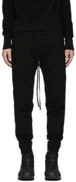 Julius Black Ribbed Lounge Pants