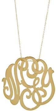 ginette_ny Medium Lace Monogram Necklace - Yellow Gold