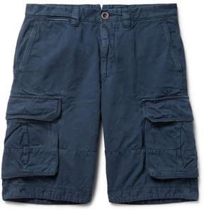 Incotex Cotton And Linen-Blend Cargo Shorts