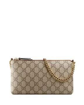 Gucci GG Supreme Canvas Wrist Wallet, Beige/Ebony - BLACK/BROWN - STYLE