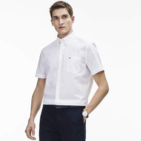 Lacoste Men's Regular Fit Salt And Pepper Cotton Shirt