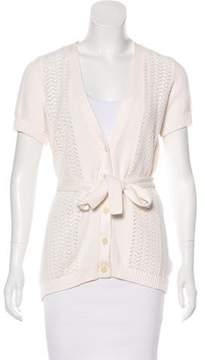 Isaac Mizrahi Short Sleeve Knit Cardigan