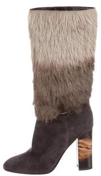 Burberry Shearling Mid-Calf Boots