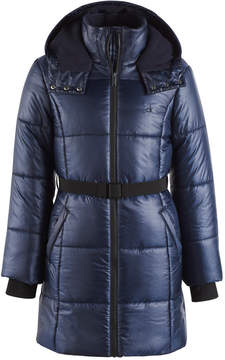 Calvin Klein Vail Hooded Belted Puffer Coat, Little Girls (4-6X)