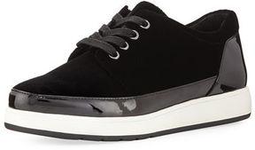 Donald J Pliner Miranda Tie Velvet Platform Sneaker