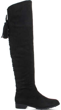 Office Knock Knock faux-suede over-the-knee boots