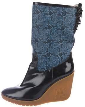 Celine Rubber Mid-Calf Boots