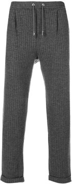 Eleventy pin-stripe cropped trousers