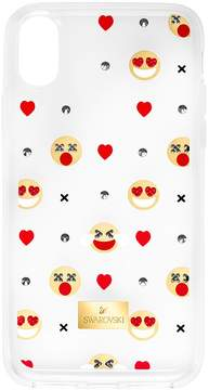 Swarovski Humorist Smartphone Case with integrated Bumper, iPhone X, Transparent
