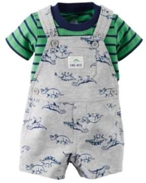 Carter's Infant Boys 2 PC Mommy Thinks Im Dino-Mite Dinosaur Shortall & Shirt 9m