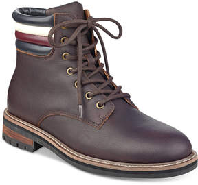 Tommy Hilfiger Men's Halle Lace-Up Lug Sole Boots Men's Shoes