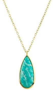 Elizabeth Showers 18K Amazonite & Mother of Pearl Pendant Necklace