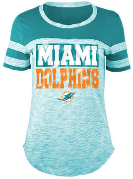 5th & Ocean Women's Miami Dolphins Space Dye Foil T-Shirt