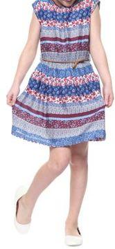 Dex Floral Stripes Dress