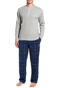 Majestic International Men's Nifty Gift Henley Shirt & Lounge Pants