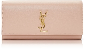 Saint Laurent Powder Pink Classic Monogram Clutch - POWDER PINK - STYLE