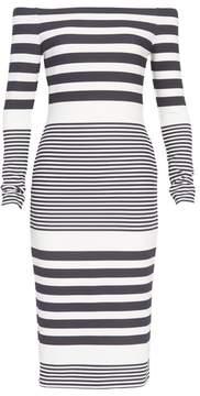 Eliza J Off the Shoulder Midi Dress