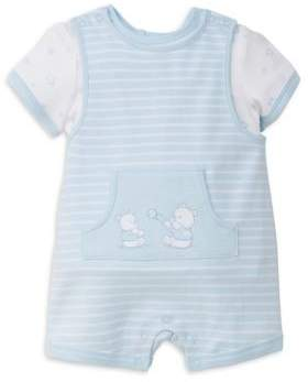 Little Me Baby Boy's Two-Piece Bouncy Top and Graphic Coverall Set