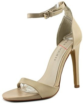 Sole Society Lindsay Women Open-toe Leather Nude Heels.