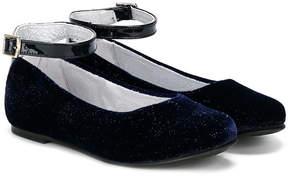 Stuart Weitzman velvet ballerina shoes
