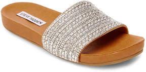 Steve Madden Dazzle Slide Sandal -Silver Metallic - Women's