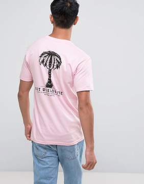 HUF T-Shirt With Palm Tree Back Print