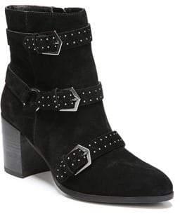 Fergie Blair Block Heel Leather Bootie