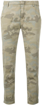 Fay camouflage print tapered trousers